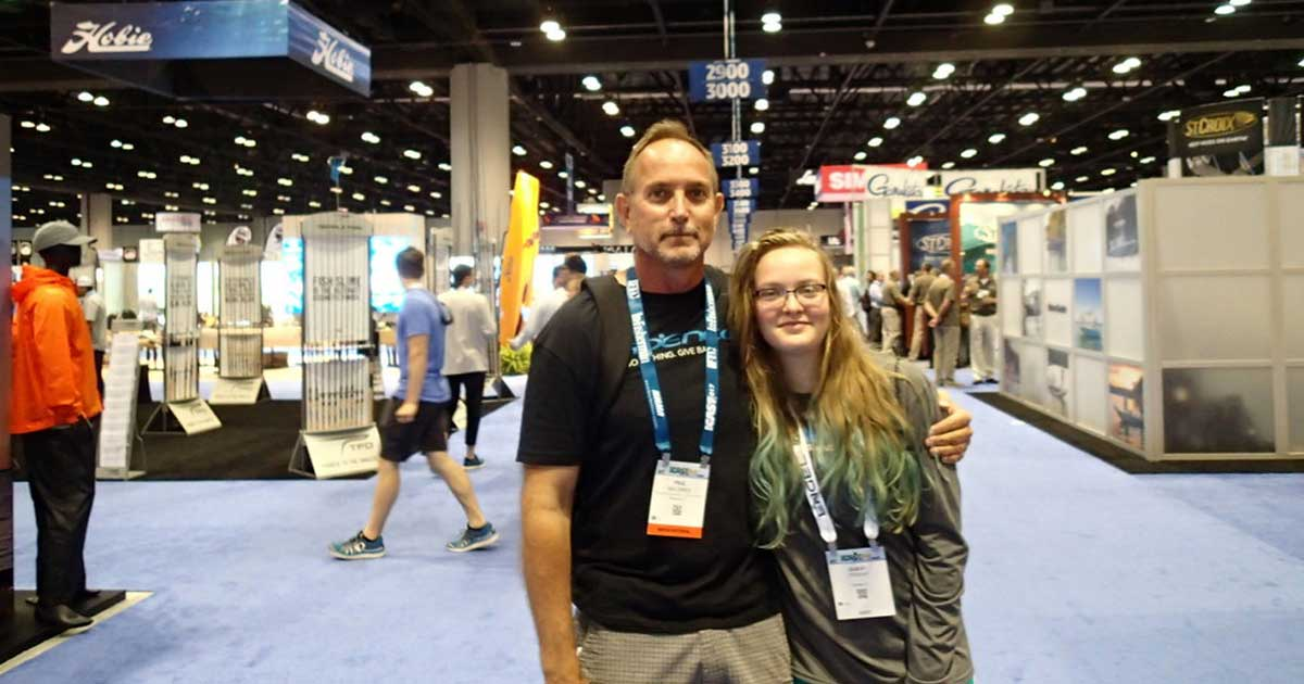 Paul and his daughter enjoy another ICAST