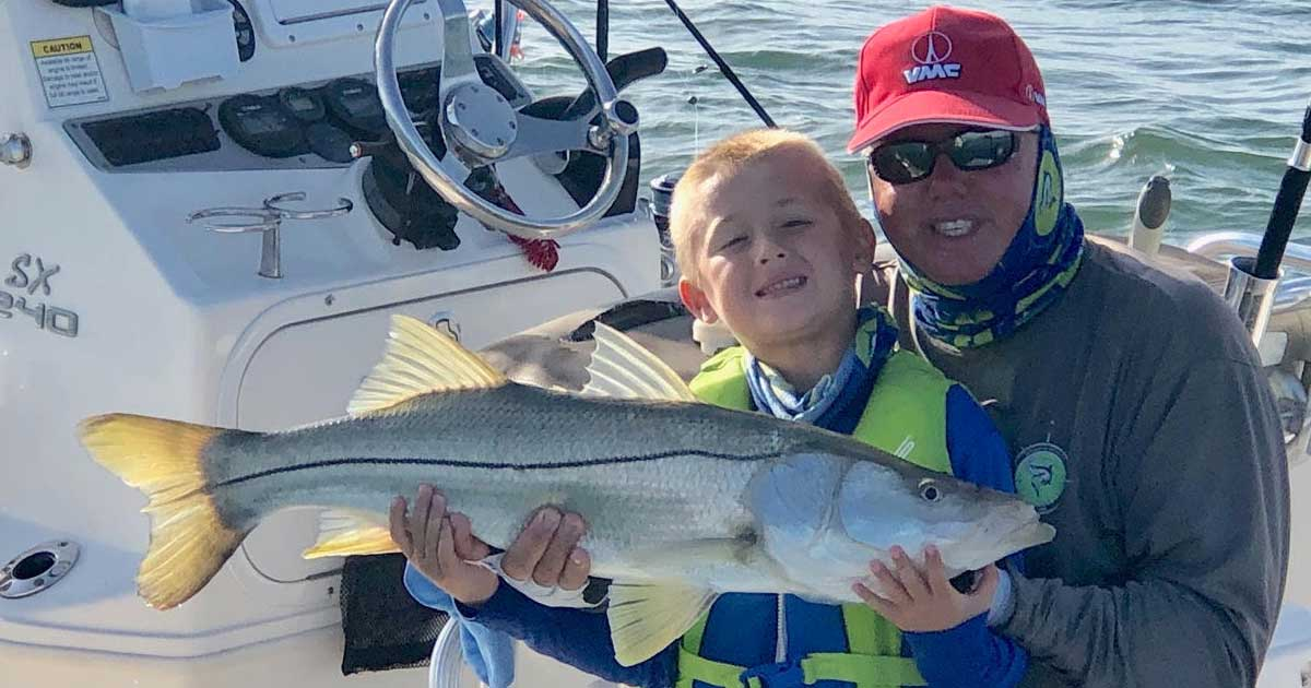 Capt. Glyn with Snook at Sebastian Inlet
