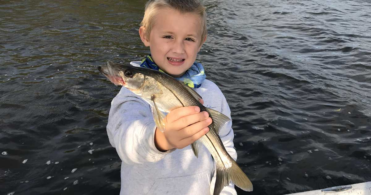 snook fishing with Noah