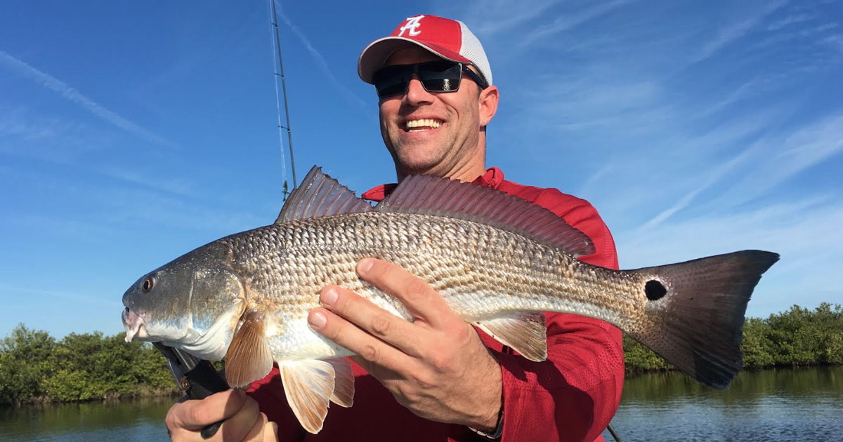 redfish caught with Capt. Jim Ross