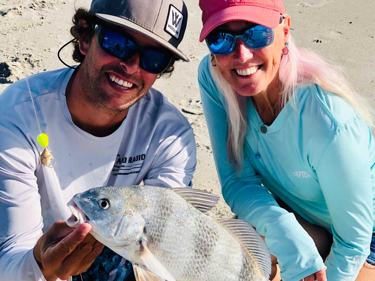 black drum surf fishing