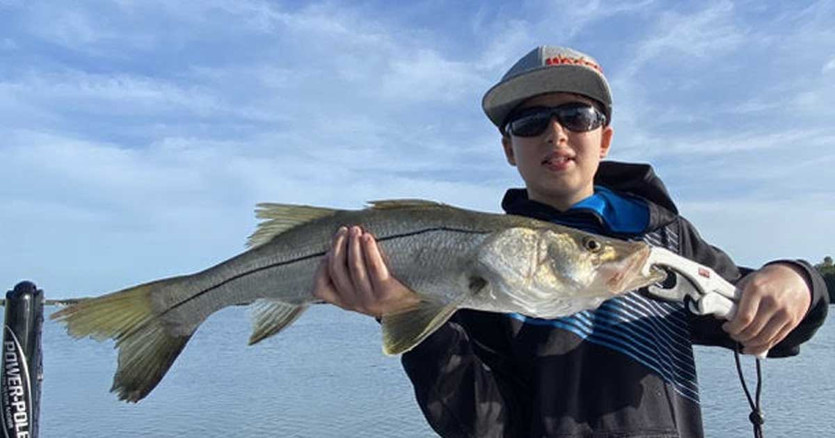 Nice inshore snook for Colin!