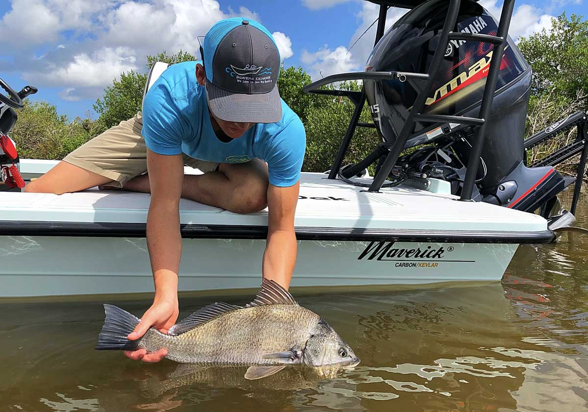 flats boat fishing with Boaters Exchange