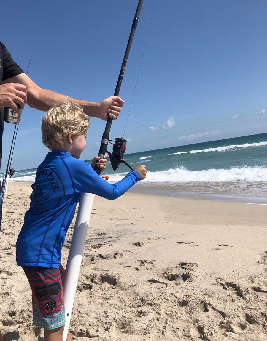 kids surf fishing